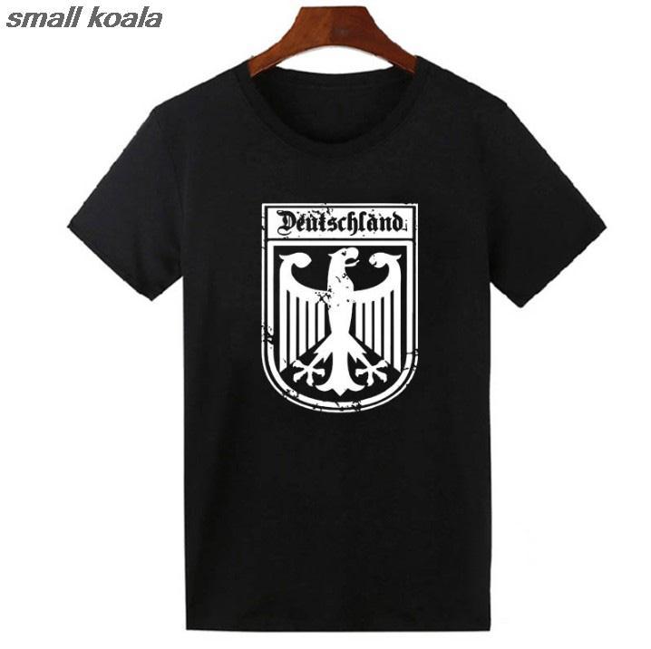 Deutschland Drapeau Allemand Crête Allemagne Aigle T-shirt Drôle Tops T-shirts Harajuku T-shirt Des Femmes Des Hommes NOUS Taille