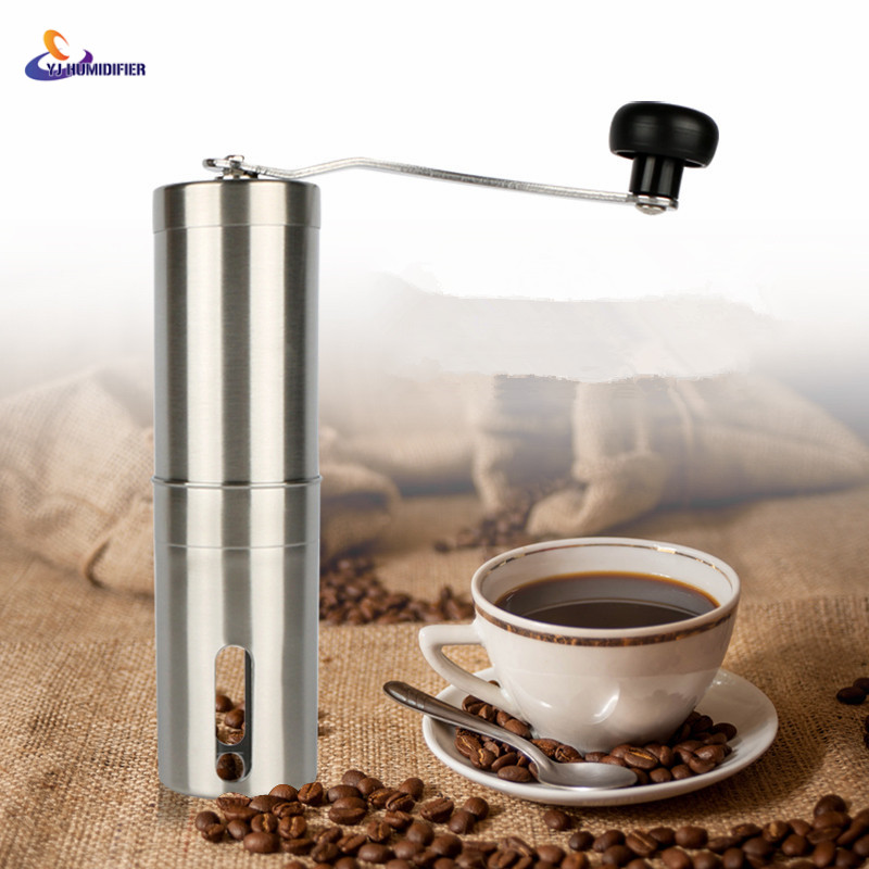 YJ HUMIDIFIER Coffee Grinder Stainless Steel Silver Hand Manual Handmade Coffee Bean Grinder Mill Kitchen Grinding Tool 30g летние шины pirelli 215 55 r16 93v cinturato p7