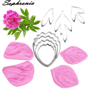 Peony Flower Petal &Cutter Silicone Mold Fondant Mould Cake Decorating Tools Chocolate Gumpaste,Sugarcraft Mold CS263 ttlife 3d daisy flower shape silicone mold pastry cupcake chocolate soap bakeware mould fondant cake sugarcraft decoration tools