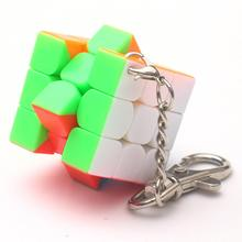 3cm Mini Small 3x3 Magic Cube Key Chain Smart Cube Toy & Creative Key Ring Decoration mini finger magic cube key chain