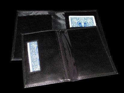 Nouveau portefeuille d'assurance tours de magie, carte de gros plan dans le portefeuille, pour magicien professionnel, Illusion de mentalisme