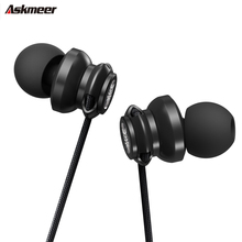 ASKMEER A2 In Ear Heavy Bass Sound Earphones 3.5mm jack Wired Earbud Sport Music Headset with Microphone for iPhone Xiaomi MP3 original langsdom m400 in ear earphones special metal high quality heavy bass sound with microphone for all phone xiaomi