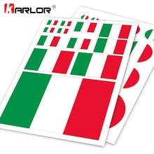 Autocollant drapeau italien, étiquette de moto, pour voiture, pour Ipad, ordinateur portable, style de voiture pratique