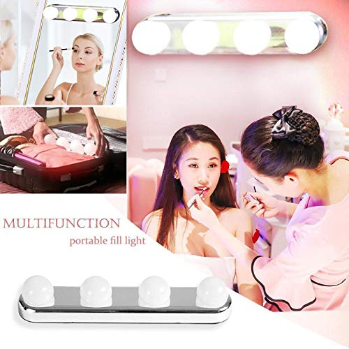 LEDGLE Makeup Light Dressing Table With Led Makeup Vanity Light Kit Battery Mirror Lamp Switch Bathroom 4 Bulbs Mirror Wall Lamp(China)