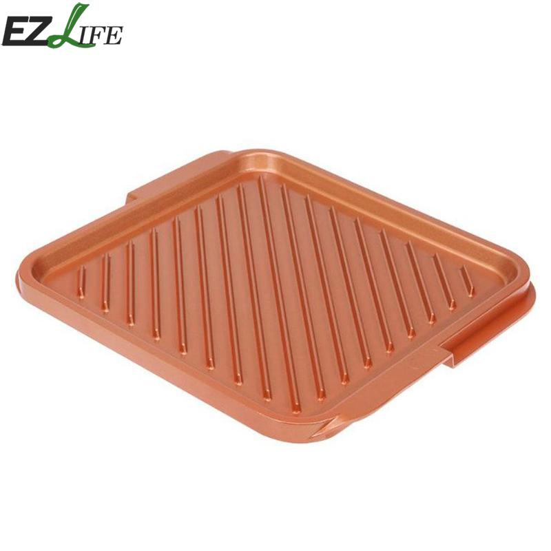 Non-stick High Quality Copper Double Flat Grill Griddle Reversible Aluminum Kitchen Pan Dish Cooking Food Eggs BBQ Pans CFA2682