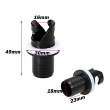 2Pcs Kayak Air Foot Pump Hose Adapter Valve Connector Inflatable Boat Air Valve Hose Adapter Kayak Accessorie for Rowing Boat