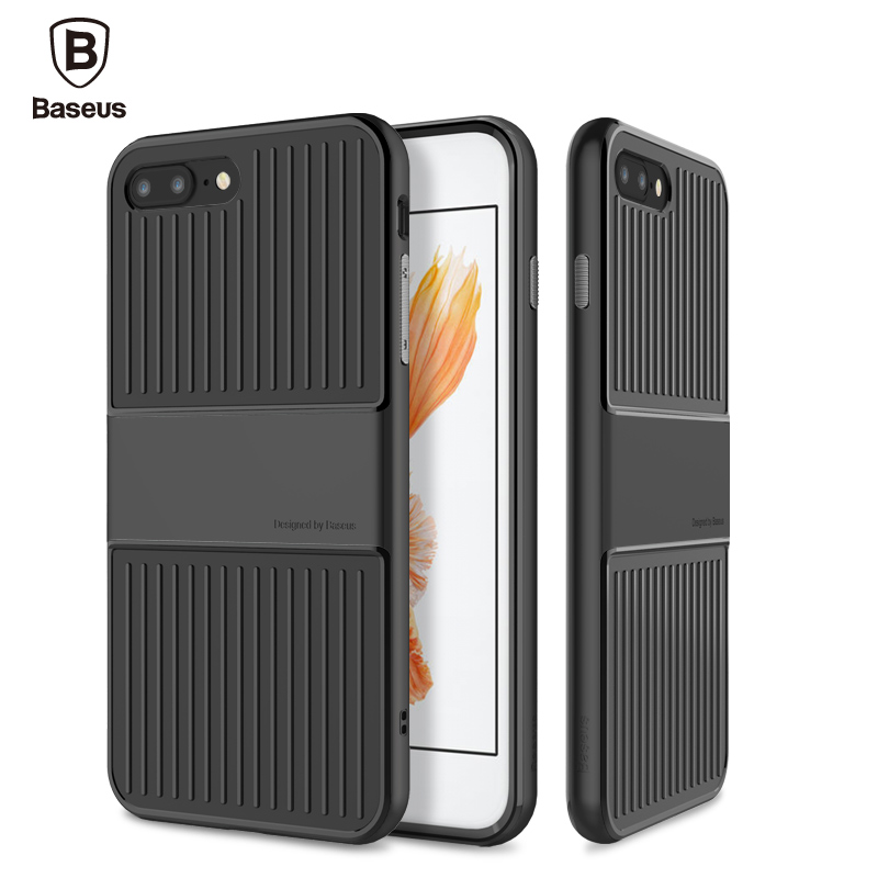 Baseus Case For iPhone 7 7 Plus 4.7/5.5 Inch Case Cover Travel Series Soft TPU PC Double Protection Protective Phone Bag Shell