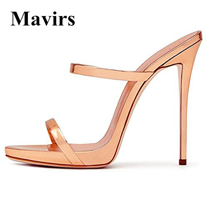MAVIRS Marca 12CM Extreme High Heels Sandals Mujer Bombas Champagne - Zapatos de mujer