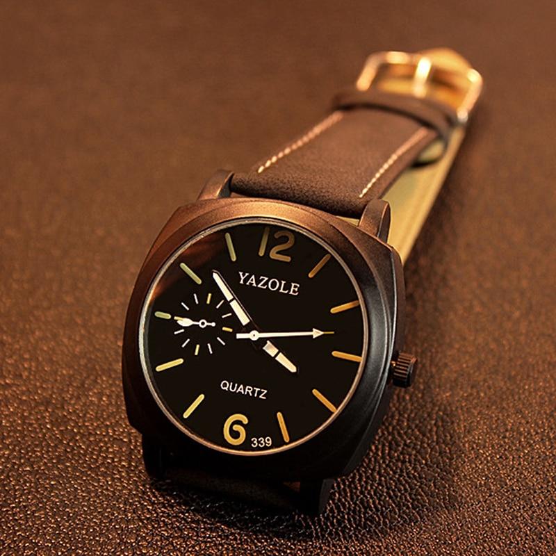 339 Fashion Men Quartz Watch Top brändi luksuslik nahk käekellad - Meeste käekellad - Foto 1