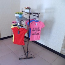The new double clothing store hanger display shelves landing aircraft island