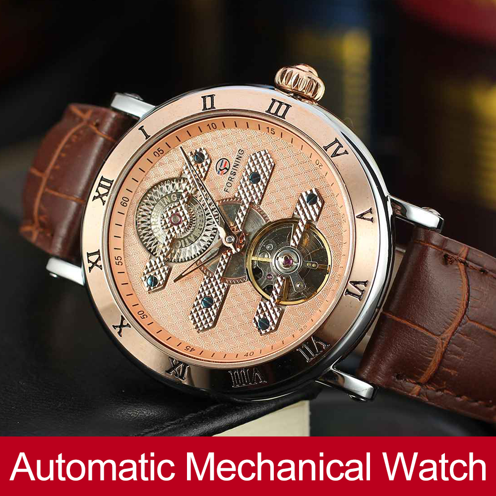 Forsining Mens High-end Brand Automatic Self-winding Genuine Leather Band Classic Mechanical High Quality Watch FSG9415M3T2Forsining Mens High-end Brand Automatic Self-winding Genuine Leather Band Classic Mechanical High Quality Watch FSG9415M3T2