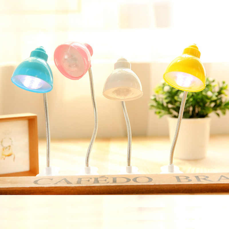 Мини светодиодный гибкий гусиный вырез клип книга лампа ночник прикроватная лампа Защита глаз энергосберегающая лампа для чтения детский подарок свет