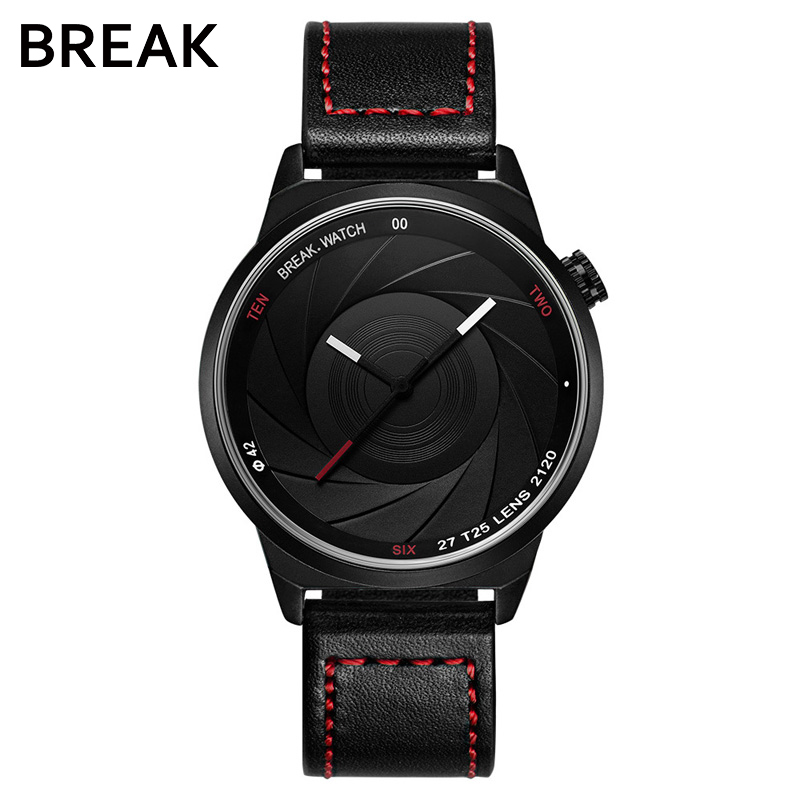 BREAK men unisex unique camera style stainless rubber band casual fashion sport quartz wristwatch modern gift watch for women break photographer series unique camera style stainless strap men women casual fashion sport quartz modern gift wrist watches