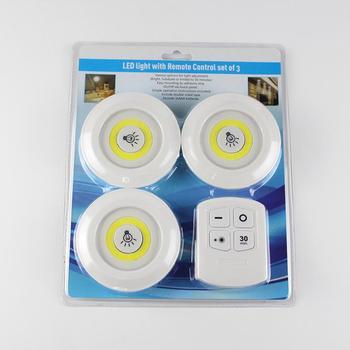 3 stücke Touch Nacht Licht Dimmbare LED Unter Kabinett Licht Schrank küche Beleuchtung Lampe Mit Fernbedienung