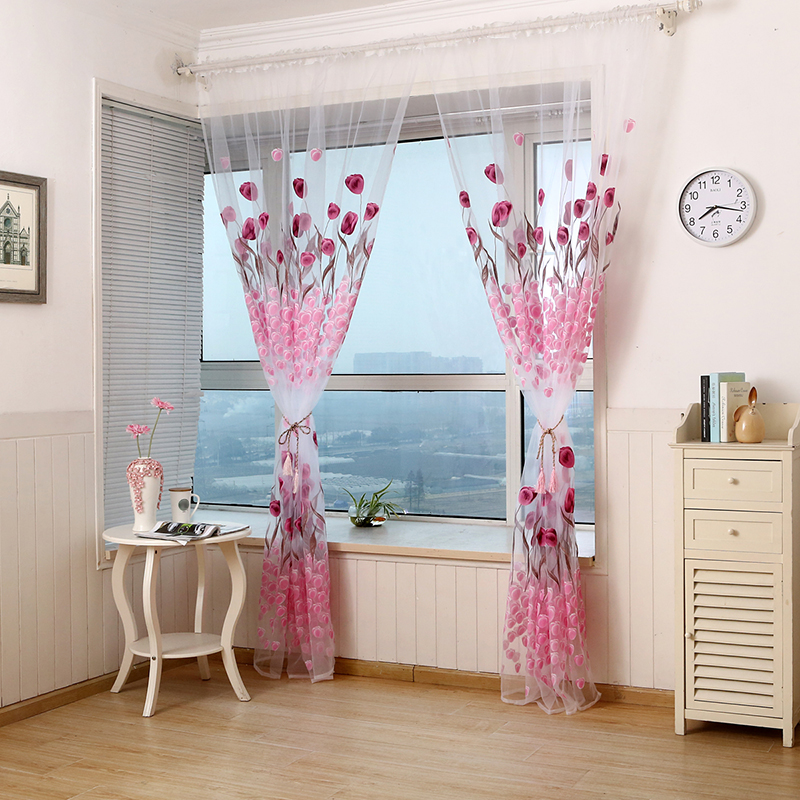 Uspirit 1 2 7m curtains bedroom embroidered embroidered for M s living room curtains