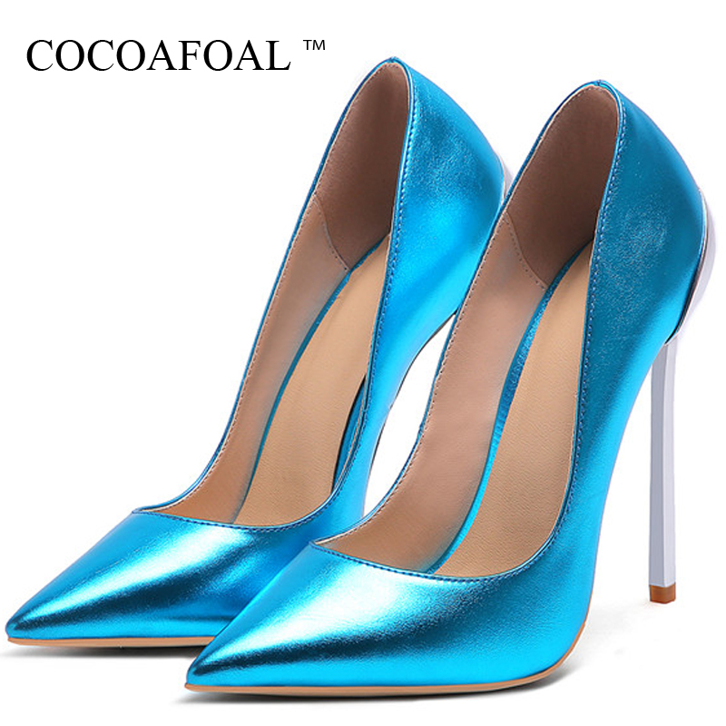 COCOAFOAL Golden Silver Women's High Heels Bride Shoes Woman Valentine Shoes Heels Shoe Champagne Sexy Party Wedding Pumps 2019