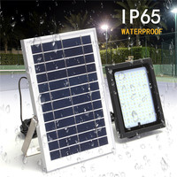 Mising 20W 1200LM Solar Light Solar Power Flood LED with Remote Controller Outdoor Garden Path Lamp