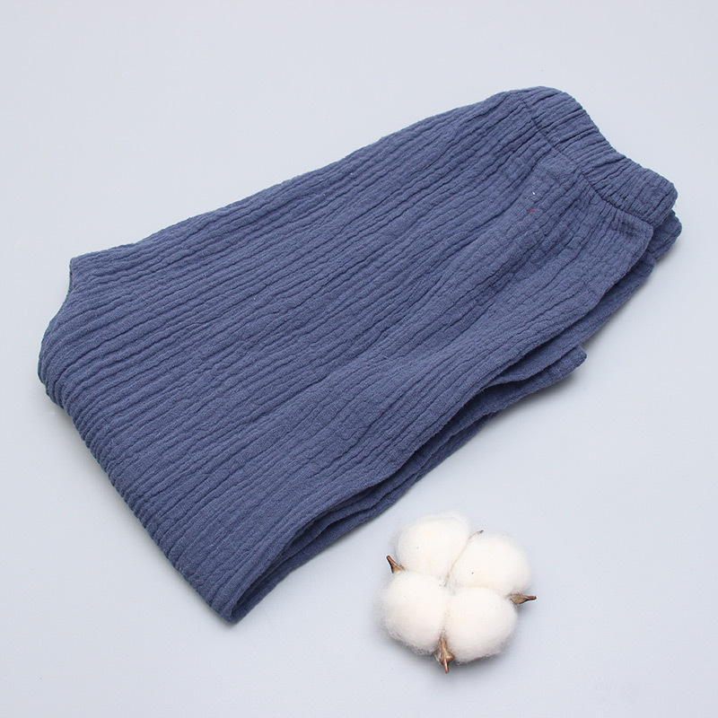 New 2-7y 18 Summer Solid Color Linen Pleated Children Ankle-length Pants for Baby Boys Pants Harem Pants for Kids Child 4