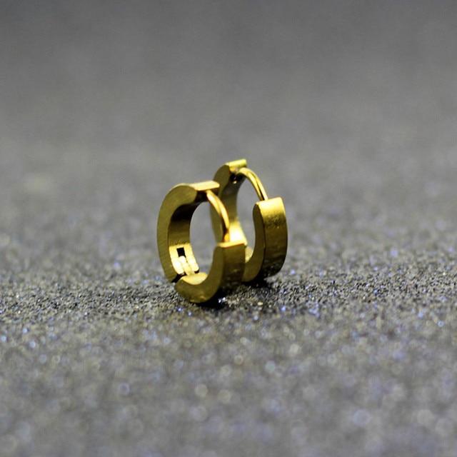Small Hoop Earrings Silver Gold 316L Stainless Steel Hoop Earring for Women Men Ear Rings Clip Colored Circle Earrings e0213 4
