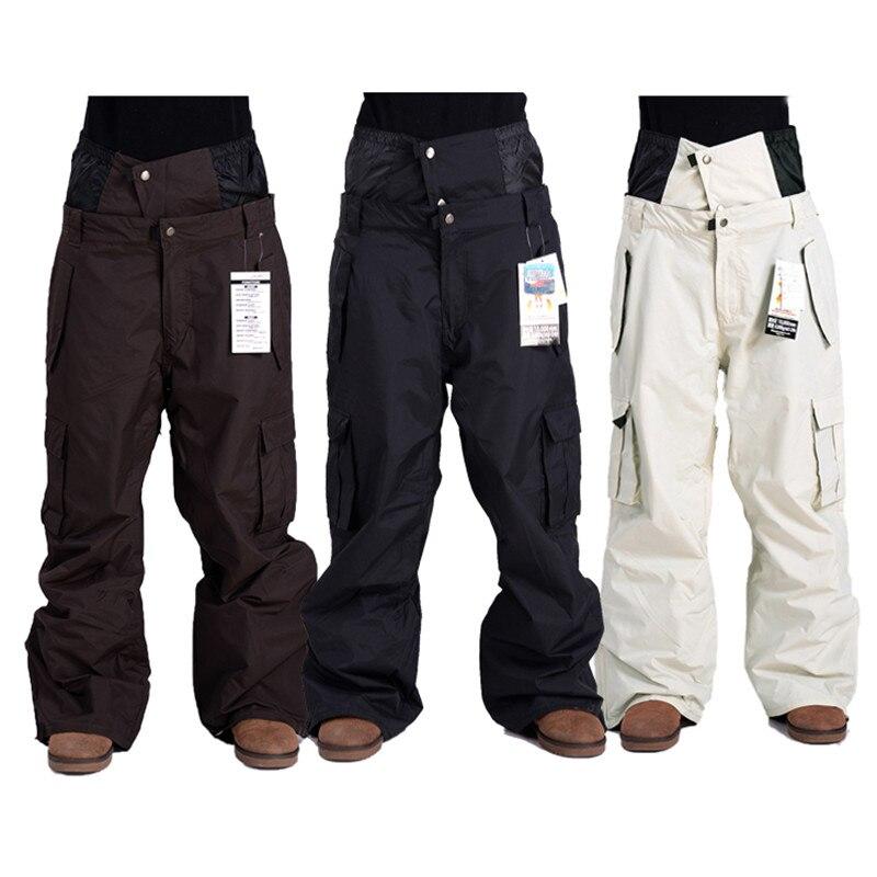 Haute Qualité New Extérieure Coupe-Vent Imperméable Respirant Double Couche D'hiver de Ski pantalon de Neige Pantalon de ski Snowboard Pantalon Ma