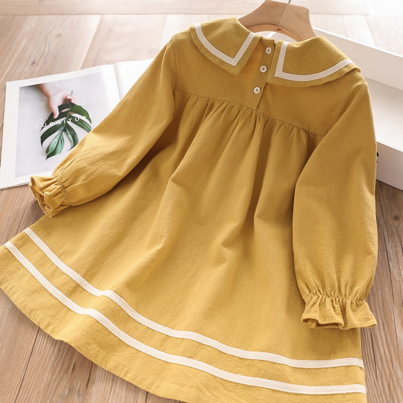 HTB113S1aNz1gK0jSZSgq6yvwpXaR Bear Leader Girls Dress 2019 New Autumn Casual Ruffles A-Line Striped Full Sleeve Kids Dress For 3T-7T