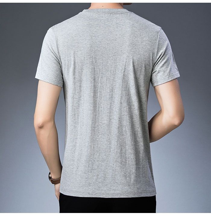 Baishanglinna Spring Summer Short Sleeve Tee Shirt Men Casual O-Neck T-Shirt Men Pure Cotton Top Homme Brand Clothing S - XXXXL 13