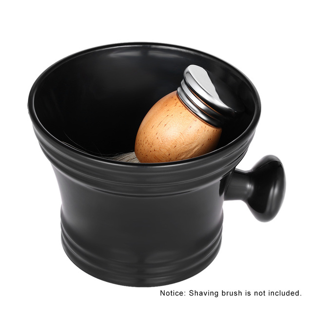 Men's Shaving Brush Bowl Soap Mug Cup Male Plastic Shaving Bowl with Handle Barber Shaving Bowl Face Cleaning Soup Cup for Razor 1