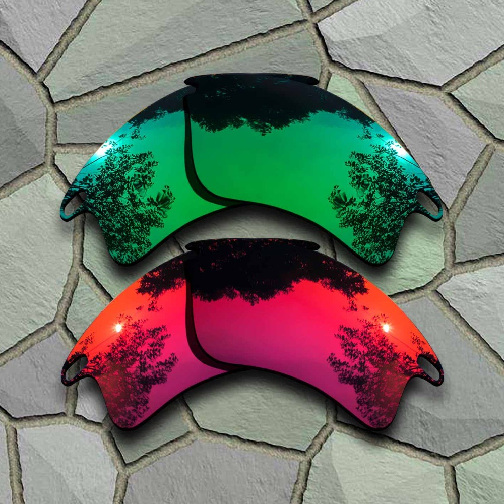 Apparel Accessories Jade Green&violet Red Sunglasses Polarized Replacement Lenses For Fast Jacket Xl Meticulous Dyeing Processes