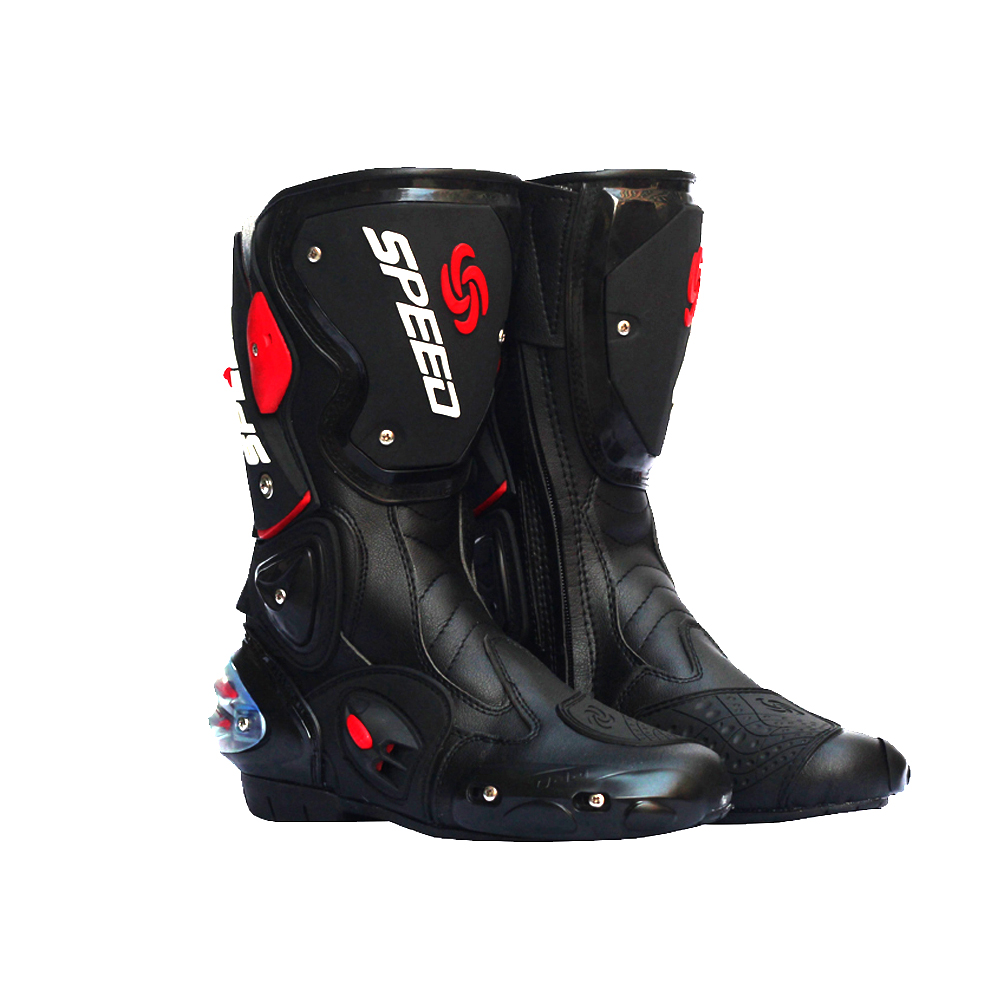 Bottes moto moto imperméable Pro-biker chaussures de vitesse moto R moto rcyle acing moto cross cuir chaussures moto cross bottes de course