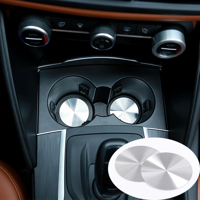 Cup Holder Mat Trim Sticker For Maserati Levante For Ghibli /& Quattroporte