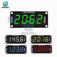 0.56 pouces 4 Bits LED Module d'affichage numérique Tube pour Arduino 7 Segments horloge Double points Module horloge TM1637 horloge électrique