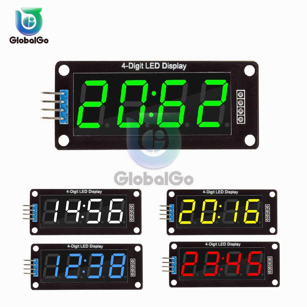 0.56 Inci 4 Bit LED Digital Tampilan Modul Tabung UNTUK ARDUINO 7 Segmen Jam Double Dots Modul Jam TM1637 Listrik jam