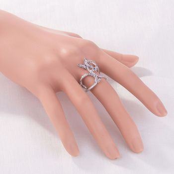 Butterfly Crystal Zircon Wings Ring for Women Love Jewelry Girls Trendy Wedding Bands 5