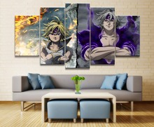 Painting Canvas Wall HD Print Art Home Decoration Living Room 5 Pieces Seven Deadly Sins Anime Artwork