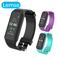 Lemse L38i Bluetooth Smart Band Bracelet color TFT-LCD Screen Passometer Heart Rate Monitor Smartband for IOS android Wristband