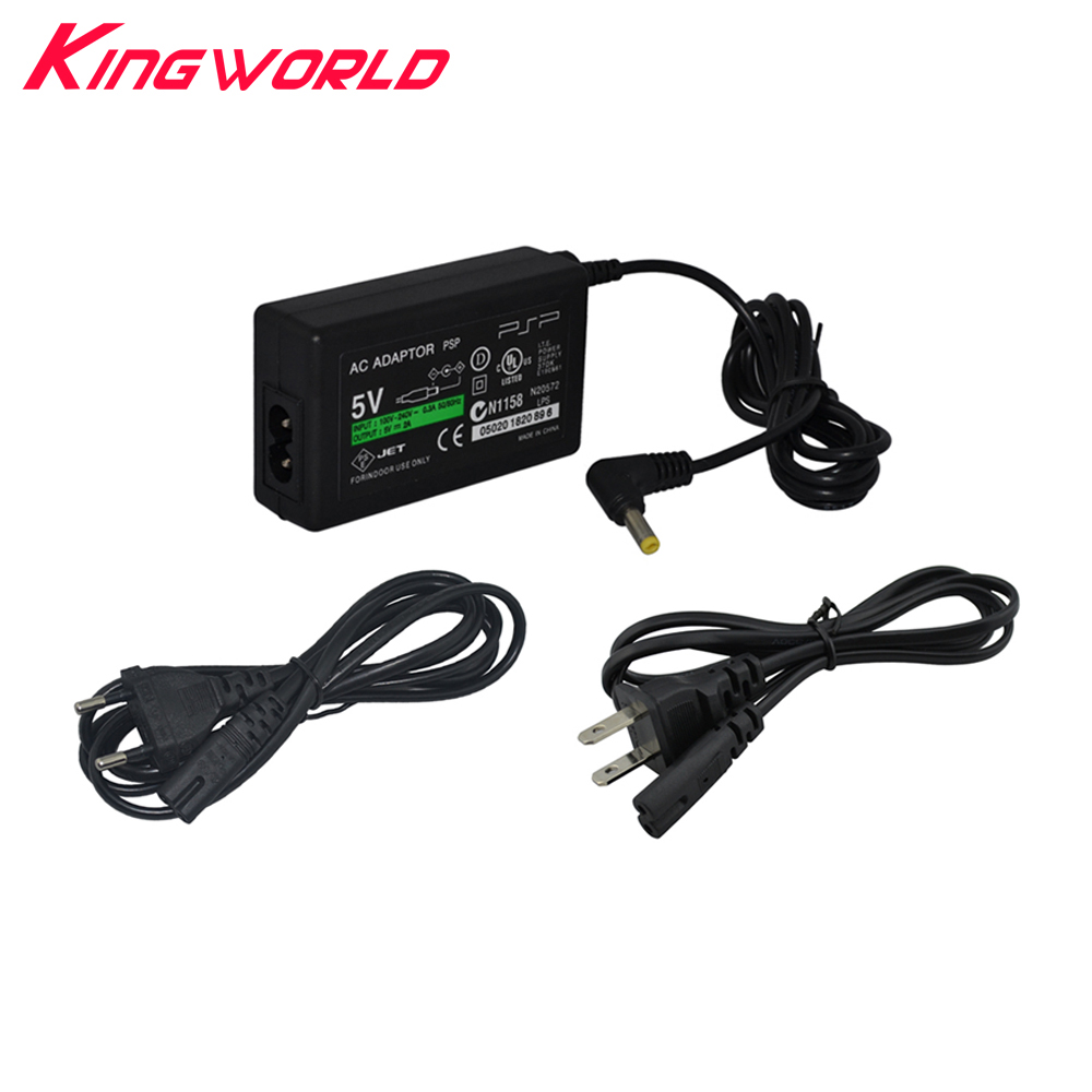 US atau EU Plug Charger AC Adaptor Power Supply Travel Wall Charger untuk Sony PSP 1000 2000 3000 Slim
