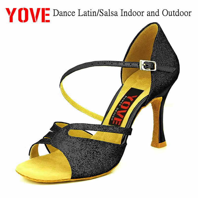 YOVE Style w153-12 Dance shoes Bachata/Salsa Indoor and Outdoor Womens Dance ShoesYOVE Style w153-12 Dance shoes Bachata/Salsa Indoor and Outdoor Womens Dance Shoes