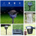 New Multi-Functional Solar Powered Mosquito Killer LED Night Light Lawn Lamp Electronic Insect Pest Bug Zapper Trap Killer