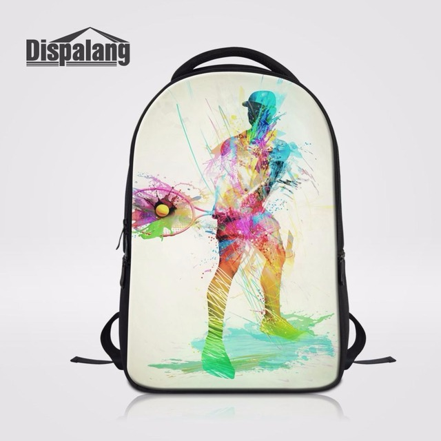 Dispalang Men Stylish Backpacks Sporter Ball Prints School Bags For Laptop  Luxury Bookbag Schoolbags For Teenager Boys Mochila-in Backpacks from ... c51da8d8dd09b