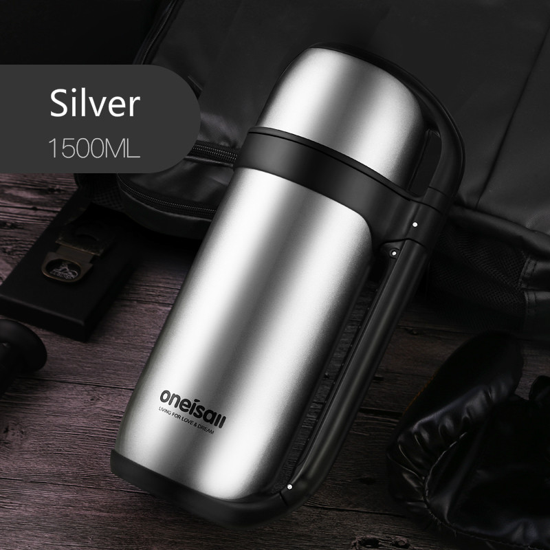 304 stainless steel heat preservation pot household large capacity 1500ml vacuum bottle outdoor travel vehicle mounted