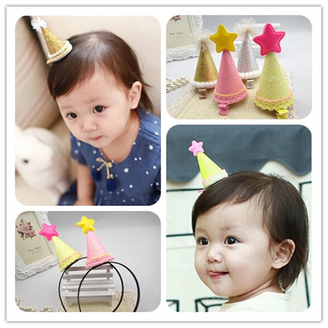 Christmas Star Birthday Party Hat Hair Clip Hairpin Children Act The Role Ofing Is Tasted Girls Headdress Props