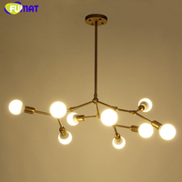 FUMAT Brief Fashion Creative DNA Chandelier Light Art Glass Bubbles Chandelier Hotel Living Room Projector Suspension Lampara
