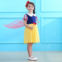 цена на Birthday Snow White Cosplay Dresses For Girls Party Princess Dress Child Kids Halloween Costume Baby Girl Tutu Dress Infant