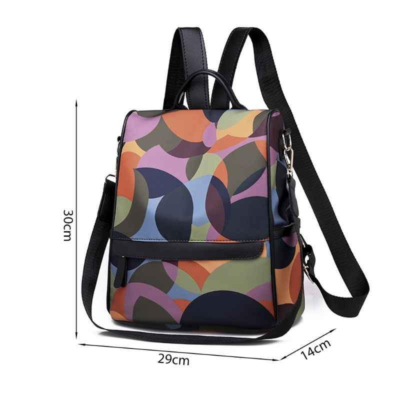 1 Buah Fashion Wanita Ransel Perjalanan Nilon Anti-Theft Ransel Bagpack Kasual Daypack untuk Remaja Panas Baru 2019