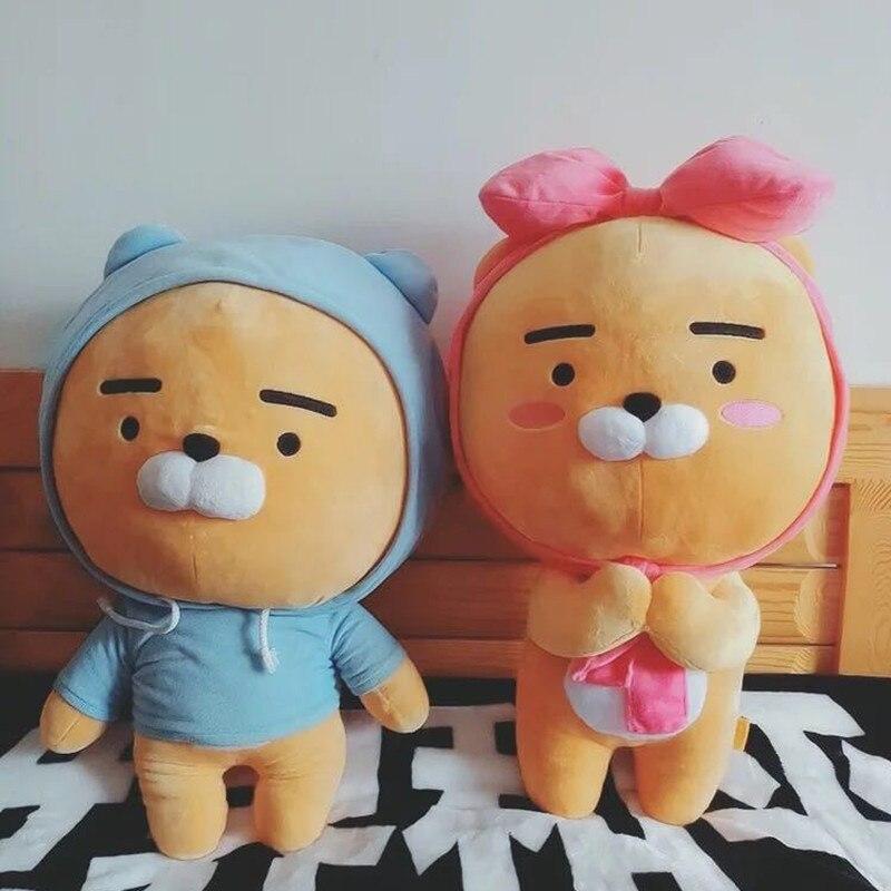 1pc 60cm Kakao Friends Plush Lion Toy Soft Stuffed Kawaii Animal Cartoon Love Doll Ryan Cute Cocoa Kids Lover Valentine's Gift