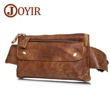цена на JOYIR Genuine Leather Waist Packs 2019 Fashion Fanny Pack Money Belt Bag Phone Pouch Bags Travel Waist Pack Small Chest Bag  M
