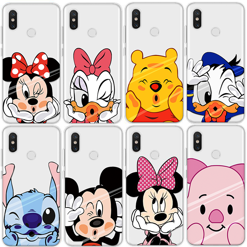 Cartoon Pattern For Cover <font><b>iPhone</b></font> X Xs Max XR 5 SE 6s S 7 8 Plus For Xiaomi Mi A1 A2 5X 6X 5 5S <font><b>6</b></font> 8 Mi Mix 2 2S Clear <font><b>Coque</b></font> Case image
