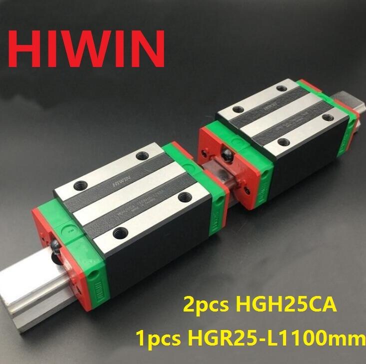 1pcs 100% original Hiwin linear rail HGR25 -L 1100mm + 2pcs HGH25CA narrow block for cnc router hiwin taiwan made 2pcs hgr25 l 600 mm linear guide rail with 4pcs hgh25ca or hgw25ca narrow sliding block cnc part