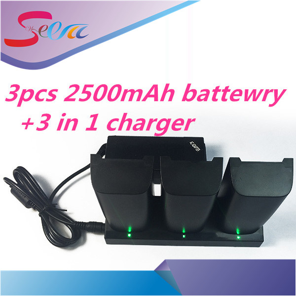 3pcs Parrot Bebop drone3.0 Drone 3.0 Quadcopter Helicopter 2500mAh Li-Po battery and 1pcs 3 in 1 charger free shiping four axis aircraft lithium battery accessories for udi u842 u842 1 u818s helicopter 3pcs battery and 6 in 1 charger