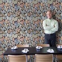 3D Stone tiles wall sticker kitchen selfadhesive Baseboard brick wallpaper bedroom stairs door home decor 45*200cm